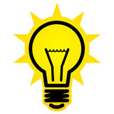Graphisme brillant d'ampoule Images stock