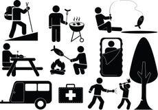 Graphisme campant illustration stock