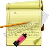 Graphisme détaillé du bloc-notes XXL de vecteur Image stock