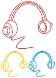 Graphisme d'écouteur Image libre de droits