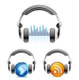 graphisme d'écouteurs Images stock