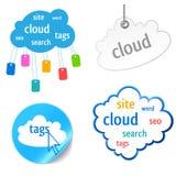 Graphisme d'étiquette de nuage Photos libres de droits