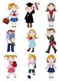 Graphisme d'étudiant de dessin animé Image stock
