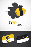 Graphisme d'abeille Image libre de droits