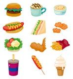 Graphisme d'aliments de préparation rapide de dessin animé Image stock