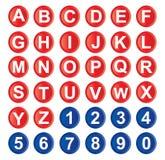 Graphisme d'alphabet Photos libres de droits