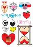 Graphisme d'amour illustration de vecteur