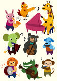 Graphisme d'animal de musique de dessin animé Images stock