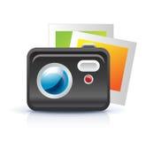Graphisme d'appareil-photo de photo Images stock
