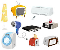 Graphisme d'appareils ménagers de dessin animé Photographie stock