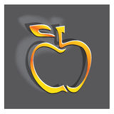 Graphisme d'Apple illustration stock
