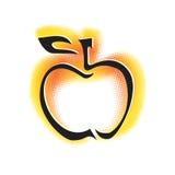 Graphisme d'Apple, contour dynamique noir Illustration Stock