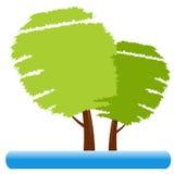 Graphisme d'arbre Image stock