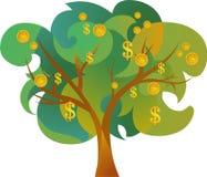 Graphisme d'arbre d'argent Photo libre de droits