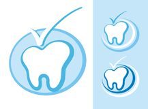 Graphisme d'art dentaire Images libres de droits