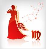 Graphisme d'astrologie de zodiaque de Vierge pour l'horoscope Photo stock