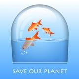 Graphisme d'Eco Image libre de droits