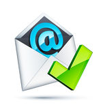 Graphisme d'email Photographie stock