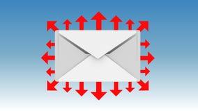 Graphisme d'email Images libres de droits