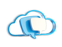 Graphisme d'entretien d'action de conversation de nuage Photographie stock