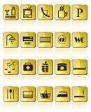 Graphisme d'hôtel et de motel Photographie stock libre de droits
