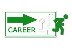 Graphisme d'occasion de carrière image stock