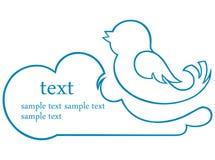 Graphisme d'oiseau Image stock