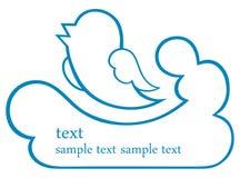 Graphisme d'oiseau Photos stock