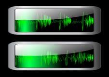 Graphisme d'onde sonore. Vecteur 10 ENV. Photo stock