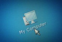 Graphisme d'ordinateur de surface adjacente et un curseur de souris de main Photos libres de droits