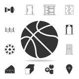 Graphisme de basket-ball Ensemble détaillé d'icônes et de signes de Web Conception graphique de la meilleure qualité Une des icôn Illustration Libre de Droits