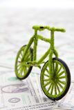 Graphisme de bicyclette d'Eco Photographie stock