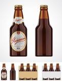 Graphisme de bouteille à bière de vecteur Photo libre de droits