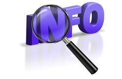 Graphisme de bouton de l'information d'Internet d'information de trouvaille de recherche Photos libres de droits