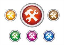 graphisme de bouton de maintenance Photographie stock libre de droits
