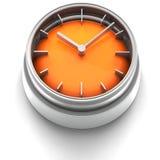 Graphisme de bouton : Horloge Photos stock