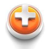 Graphisme de bouton : Positif Image stock
