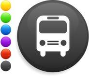 Graphisme de bus sur le bouton rond d'Internet Image libre de droits