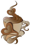 Graphisme de café avec la conception élégante illustration stock