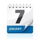 Graphisme de calendrier Images stock