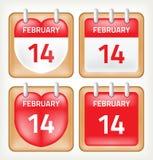Graphisme de calendrier Photos libres de droits