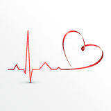 Graphisme de cardiogramme de battements de coeur Photo stock