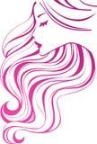 Graphisme de cheveu Photo libre de droits