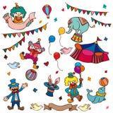 Graphisme de cirque de dessin animé Photos stock