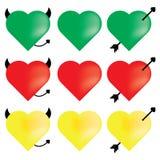 Graphisme de coeur Images libres de droits