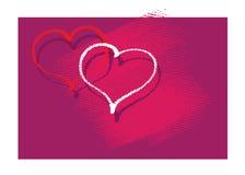 Graphisme de coeur, carte Illustration Libre de Droits
