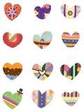 Graphisme de coeur d'amour de dessin animé Photos libres de droits