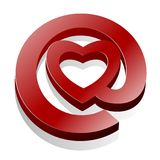 Graphisme de coeur d'email d'amour @ Images stock
