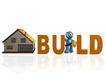 Graphisme de constructeur à la maison et de maintenance Photos libres de droits