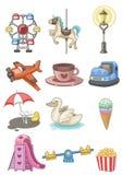 Graphisme de cour de jeu de dessin animé Photographie stock